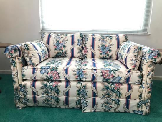 Floral Couch W/Arm Covers