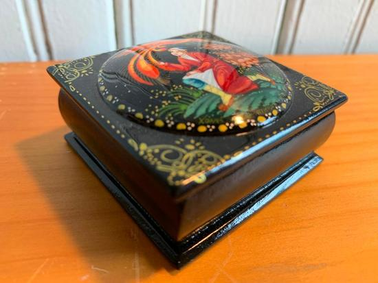 Hand Painted Folk Art Boxes From Russia