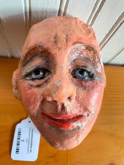 Paper Mache' Head Made By Jacqui Theobold