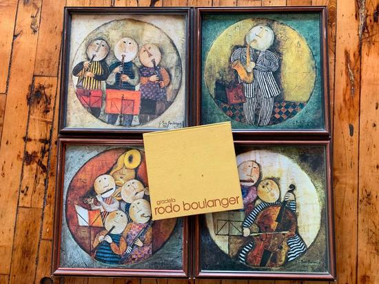 (4) Framed Rodo Boulanger Prints + Artists Book