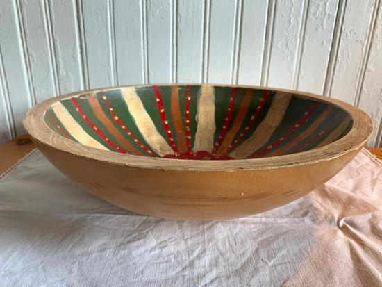 Hand Painted Wooden Bowl