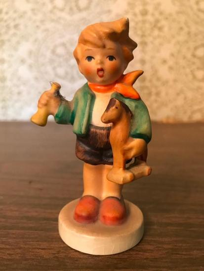 "Hummel Figurine: ""Boy With Horse"""