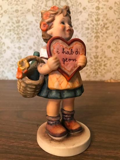 "Hummel Figurine: ""Valentine Gift"" #1 Goebel Collectors Club"