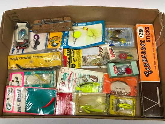 Group Of Fishing Lures & Related Items