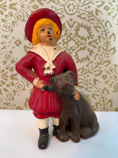 "Cast Iron Bank ""Buster Brown & Tige"""