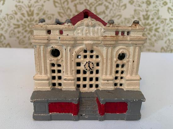 "Cast Iron ""Bank Building"" Bank"