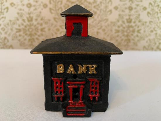 "Cast Iron ""Bank Building' Bank"