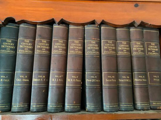 "(10) Volumes ""The Century Dictionary & Cyclopedia"""