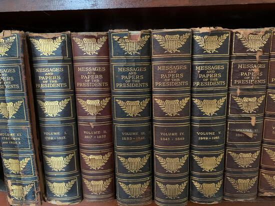 "(11) Volumes ""Messages & Pmapers Of The Presidents"""