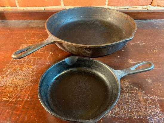 Lodge & Wagner Ware Cast Iron Skillets