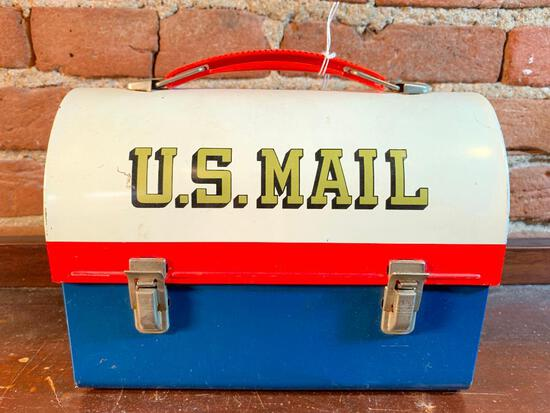 """Vintage """"U.S. Mail"""" Lunch Box W/Thermos"""