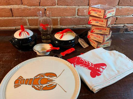 Group Of Kitchen Items W/Lobster Theme