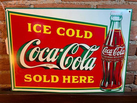 Contemporary Tin Cola-Cola Sign