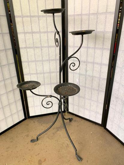 Vintage Iron 4-Arm Plant Stand