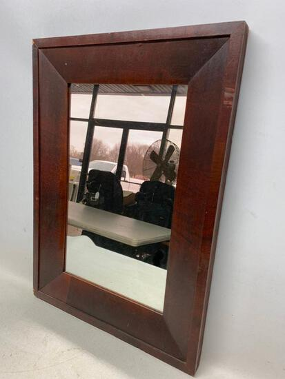 Antique Ogee Mirror W/Mahogany Veneers