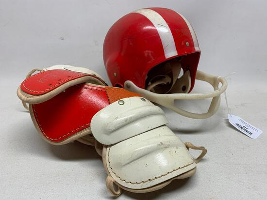 Vintage Child's Football Helmet & Pads