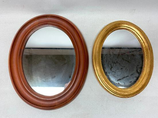 (2) Framed Oval Mirrors