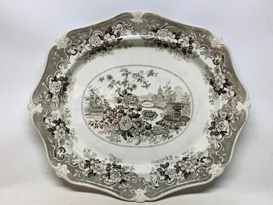 Amazing Antique Transfer-Ware Platter