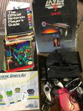 Stack Of Nintendo Magazines From 1980's/1990's, Zapper, Controls, + Wii Steering Wheel
