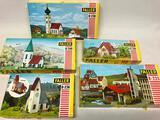 (5) Vintage Faller HO Scale Buildings: B-236, B-235, B-240, B-209, & B-238