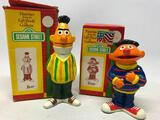 (2) 1976 Sesame Street Figures W/Boxes By Gorham