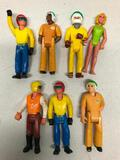 (7) Vintage Fisher-Price Pose-able Figures