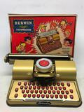 Vintage Berwin Child's Typewriter In Original Box