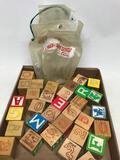 Set Of Educational Wooden Blocks In Bag
