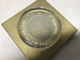 1969 Apollo 11 Frosted Glass Paperweight In Box