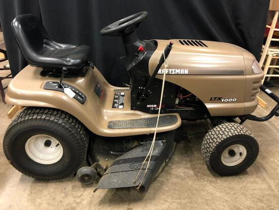 Craftsman LTX 1000 Riding Lawn Mower