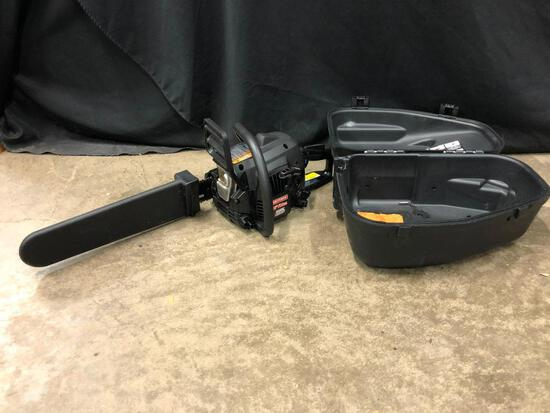 """Craftsman 16"""" Sim-Pul 38cc Gas Chain Saw In Carrying Case"""