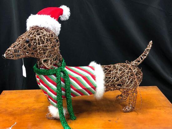 Christmas Weiner Dog Display