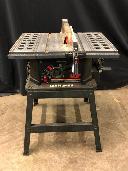 """Craftsman 2.5HP 10"""" Table Saw On Stand"""