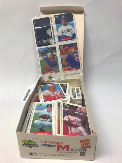 Opened Box Of 1991 Minor League Baseball Cards