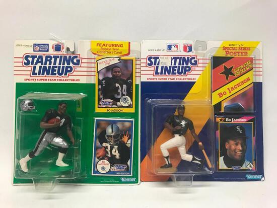 1990 Starting Lineup Bo Jackson Football & 1992 Jackson Baseball On Cards