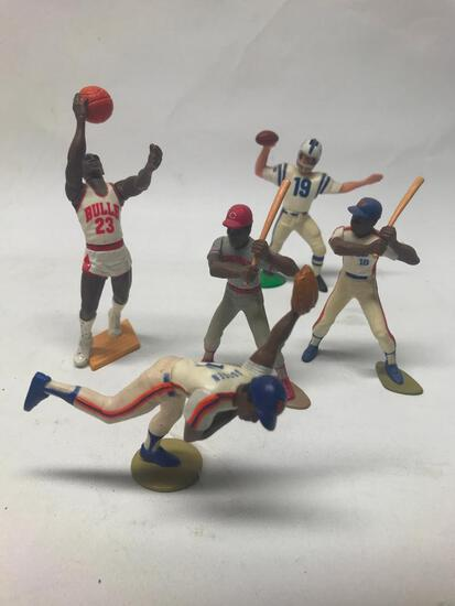 (5) Starting Lineup Action Figures