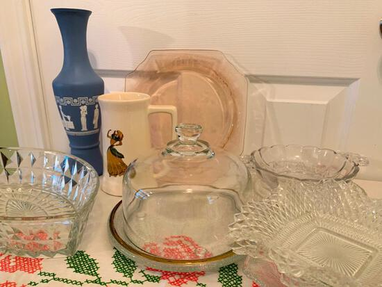 (9) Pcs. Of Serving Glassware