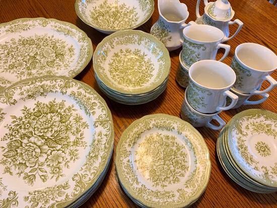 (39) Pcs. Royal Staffordshire Transfer Ironstone By J. & G. Meakin, England