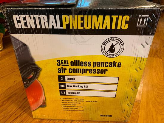 Central Pneumatic 3 Gallon Air Compressor In Box-Never Used