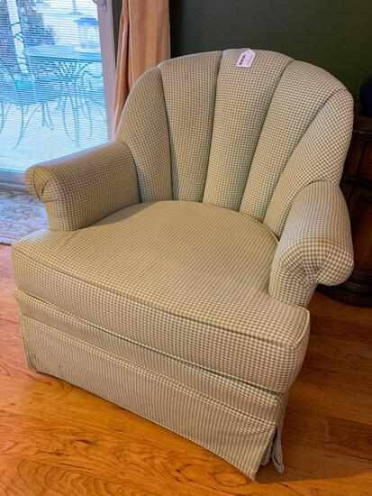 Upholstered Swivel Rocker By Pembrook Chair Company