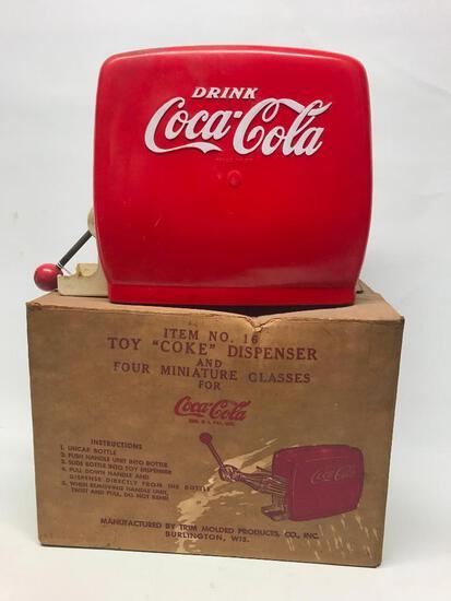 Vintage Coca-Cola Kid's Coke Dispenser In Original Box