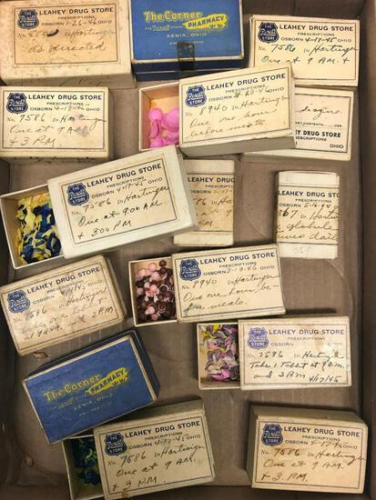 (15) Pill Boxes From Osborn & Xenia, Ohio