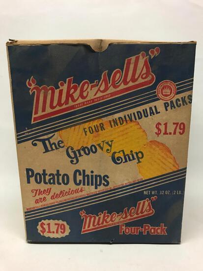Vintage Cardboard Mike-Sells Potato Chip Box