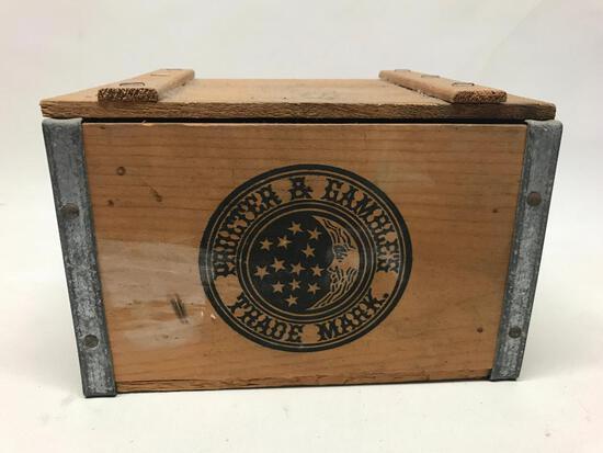 Wooden P & G Lidded Box