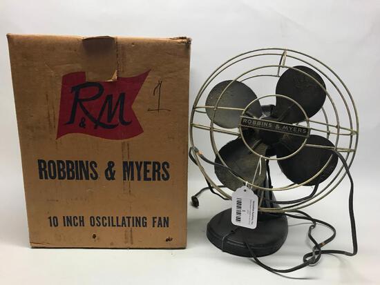 Vintage Robbins & Myers Fan In Original Box