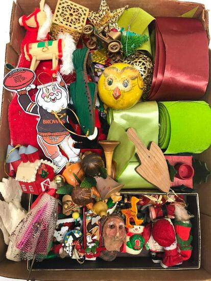 Large Group Of Wood & Hand-Made Christmas Ornaments & Similar Items