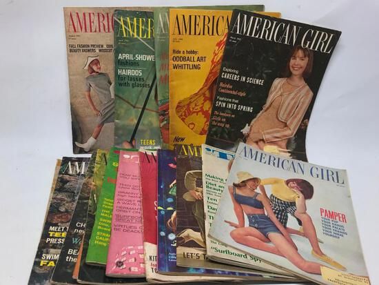 """Group Of Mid-60's """"American Girl"""" Magazines"""