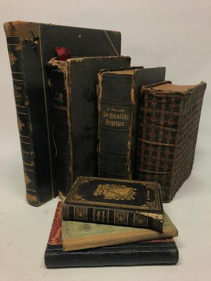 (4) 1890's German Bibles & Religious Books