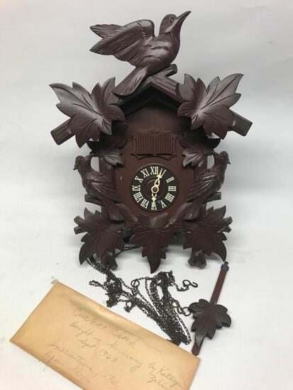 1963 German Coo-Coo Clock W/Provenance