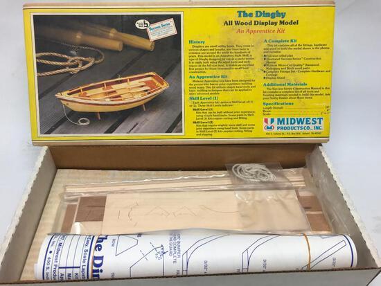 Vintage Wood Boat (Dinghy) Display Model In Box